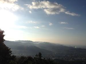 吾妻山山頂からの景色