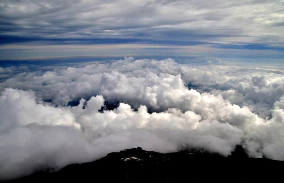 雲の上です。